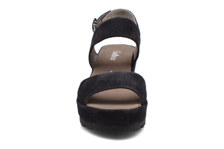Sandales et nu-pieds Gabor Pistoia Bleu vue portées chaussures
