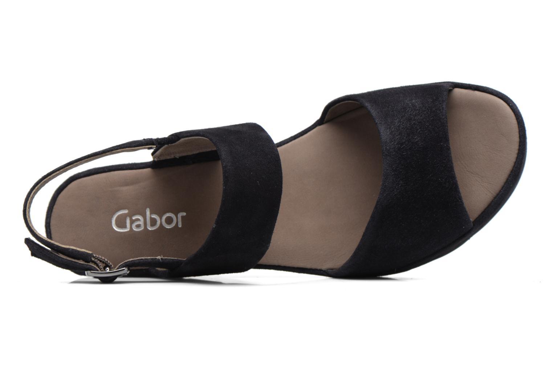 Sandales et nu-pieds Gabor Pistoia Bleu vue gauche