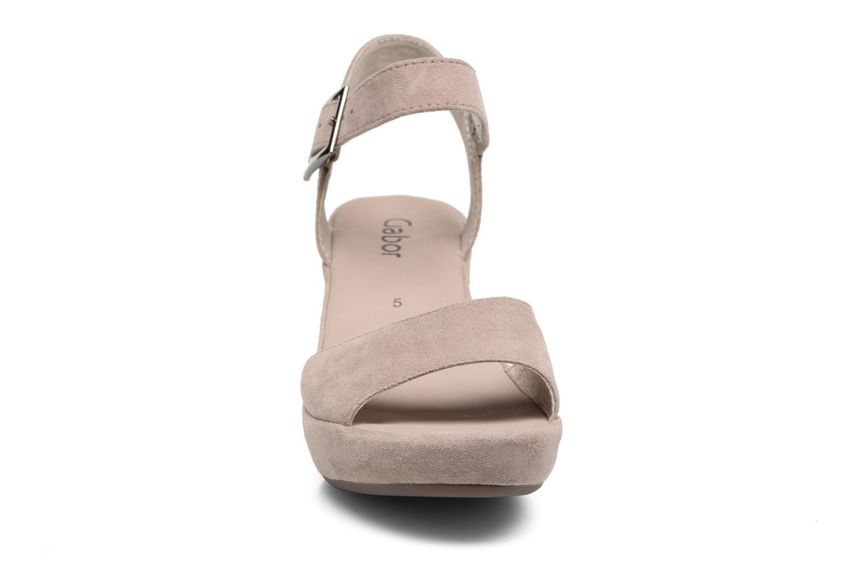 Sandales et nu-pieds Gabor Aprilia Beige vue portées chaussures