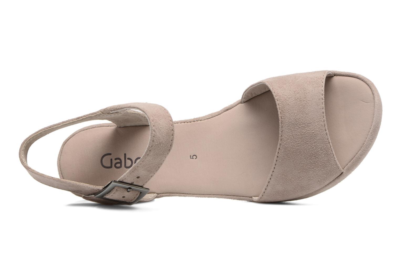 Sandales et nu-pieds Gabor Aprilia Beige vue gauche