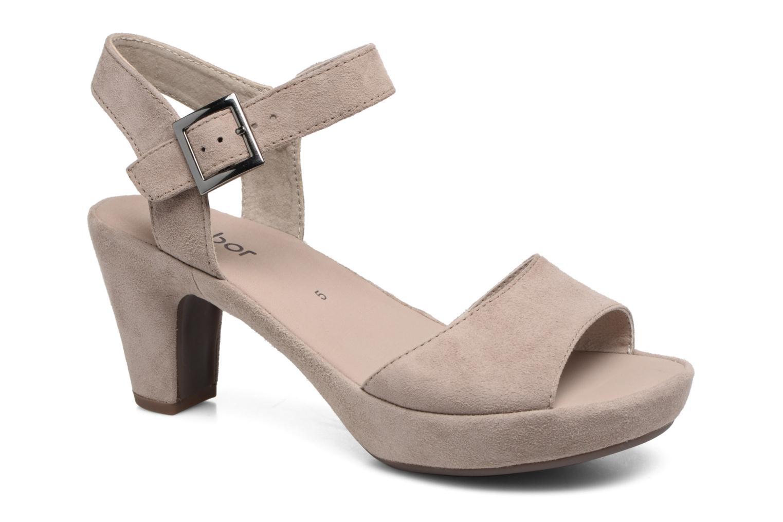 Sandales et nu-pieds Gabor Aprilia Beige vue détail/paire