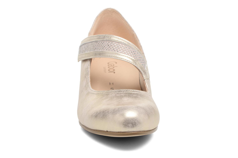 Escarpins Gabor Palma 2 Or et bronze vue portées chaussures