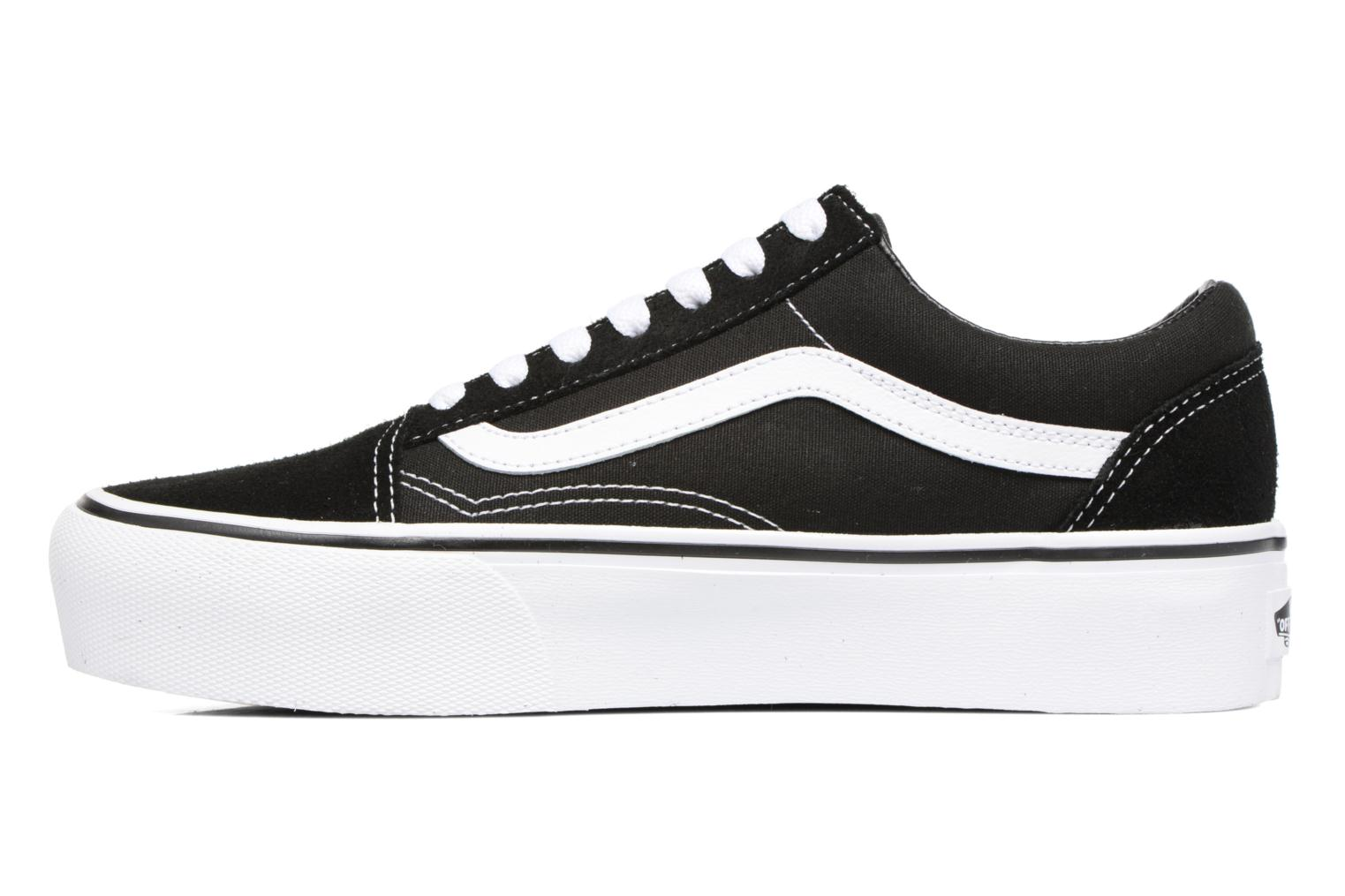 Baskets Vans Old Skool Platform Noir vue face