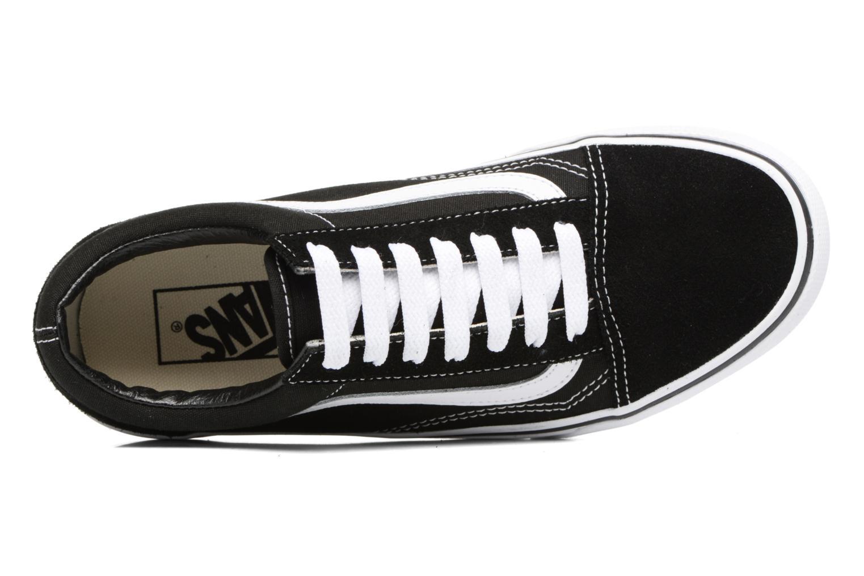 Black/white Vans Old Skool Platform (Noir)