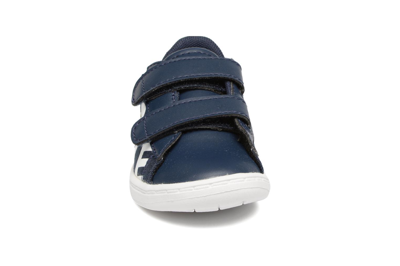 Baskets Lacoste Carnaby Evo 117 1 Kids Bleu vue portées chaussures