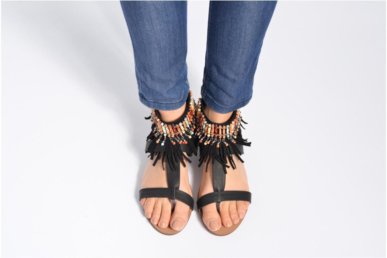 Sandales et nu-pieds Kaporal Loisi Marron vue bas / vue portée sac