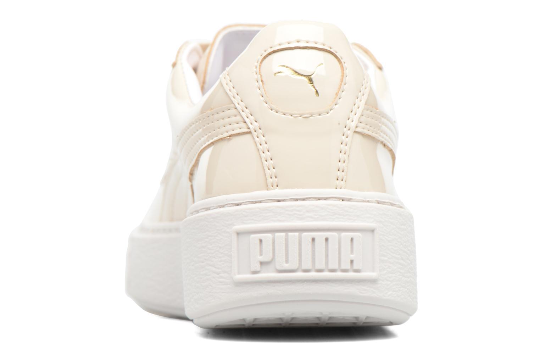Baskets Puma Wns Basket Platform Patent Blanc vue droite