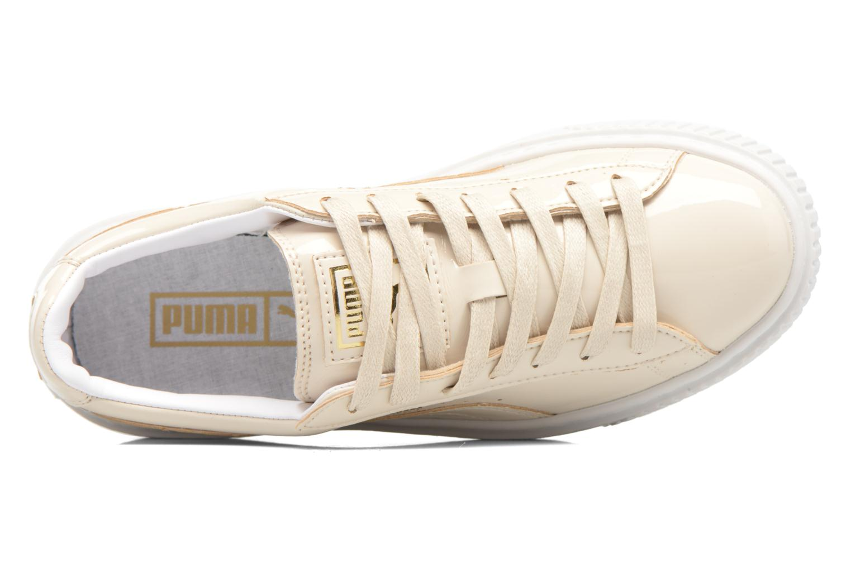 Baskets Puma Wns Basket Platform Patent Blanc vue gauche