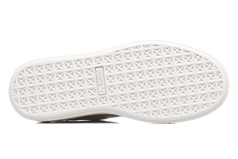 Wns Basket Platform Patent Oatmeal-White