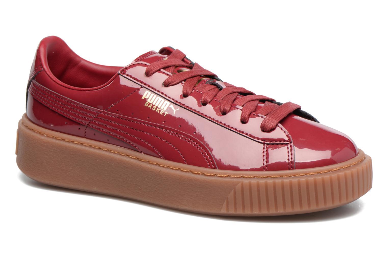 Últimos recortes de precios Puma Wns Basket Platform Patent (Rojo) - Deportivas chez Sarenza
