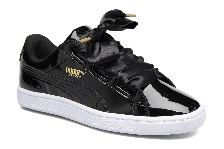 Zapatos promocionales Puma Basket Heart Patent Wn's (Negro) - Deportivas   Cómodo y bien parecido