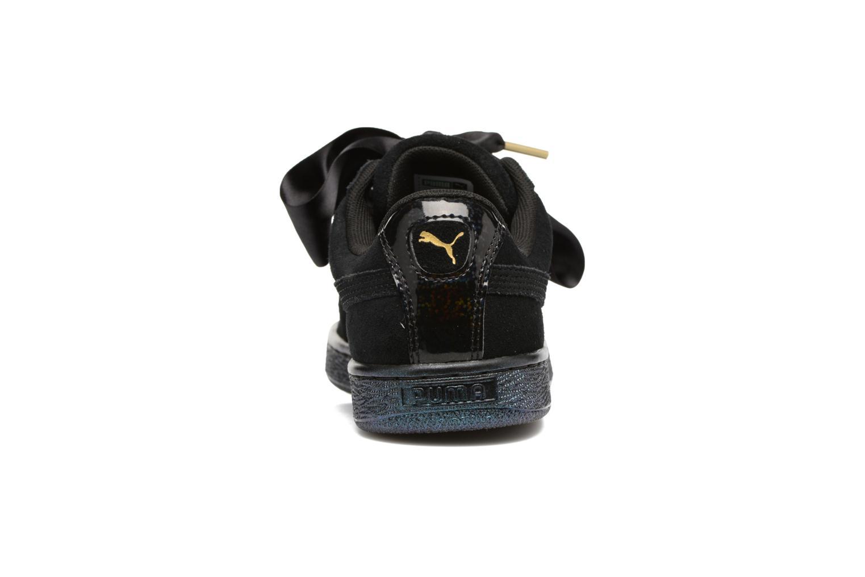 Baskets Puma Suede Heart Satin Wn's Noir vue droite
