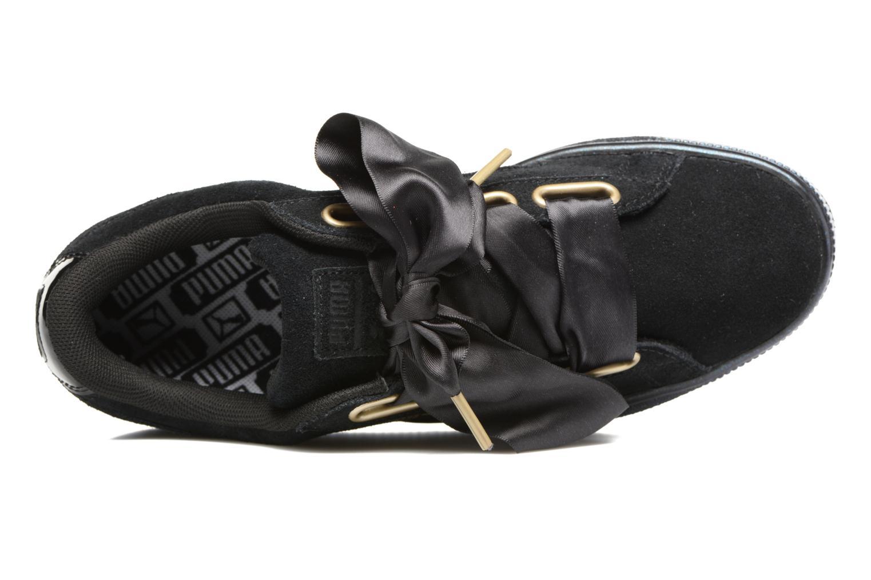 Baskets Puma Suede Heart Satin Wn's Noir vue gauche