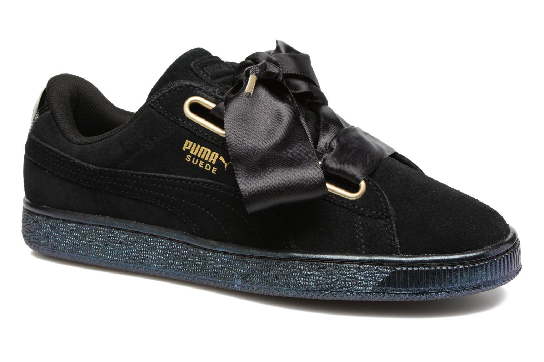 Baskets Puma Suede Heart Satin Wn's Noir vue détail/paire