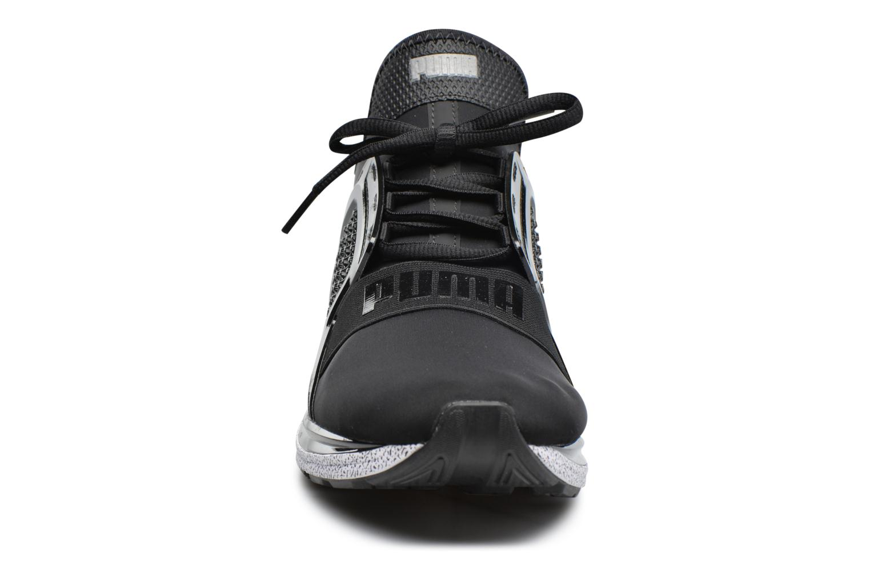 Baskets Puma Ignite Limitless Snow Splatter Noir vue portées chaussures
