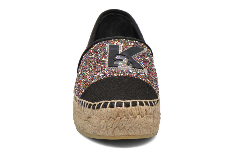 Espadrilles Karl Lagerfeld Glitter Espadrille Multicolore vue portées chaussures