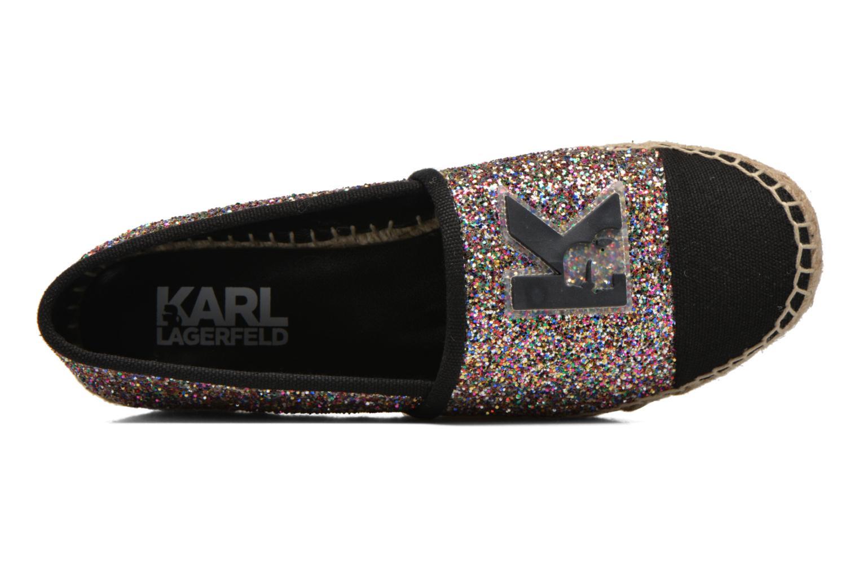 Espadrilles Karl Lagerfeld Glitter Espadrille Multicolore vue gauche
