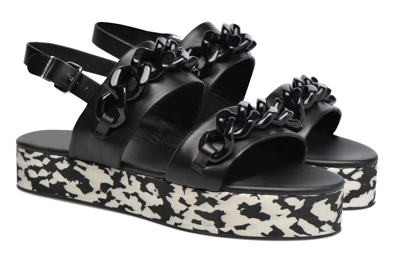 Sandales et nu-pieds Karl Lagerfeld Plexi Platform Sandal Noir vue 3/4