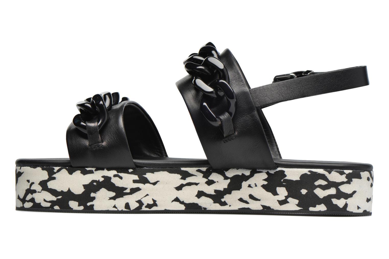 Sandales et nu-pieds Karl Lagerfeld Plexi Platform Sandal Noir vue face