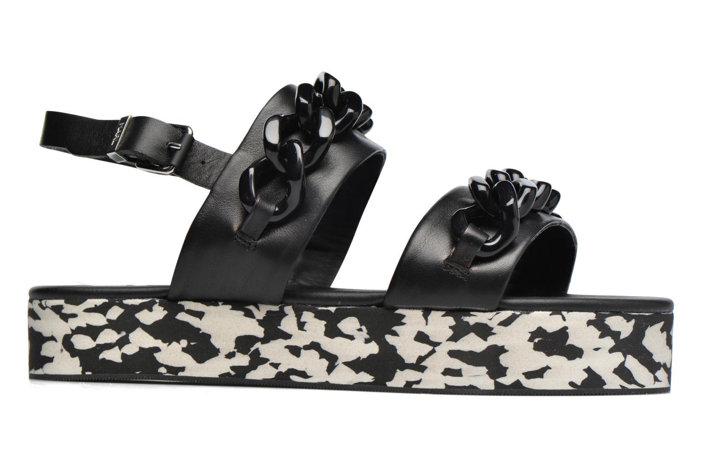 Sandales et nu-pieds Karl Lagerfeld Plexi Platform Sandal Noir vue derrière