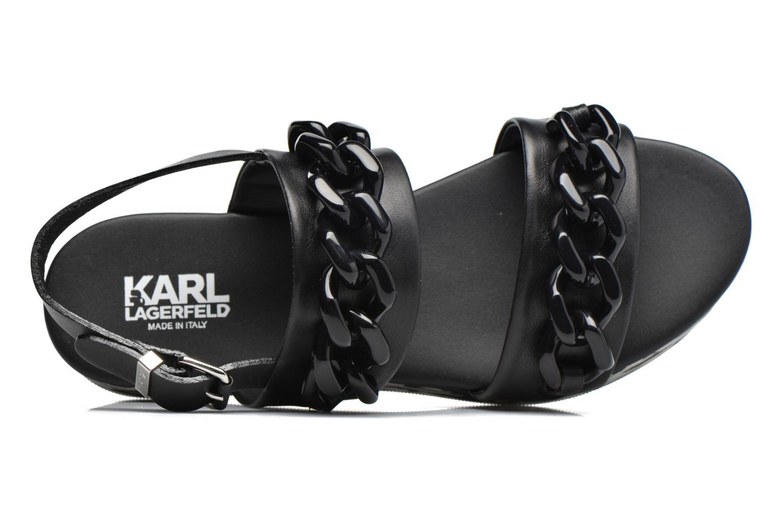 Sandales et nu-pieds Karl Lagerfeld Plexi Platform Sandal Noir vue gauche