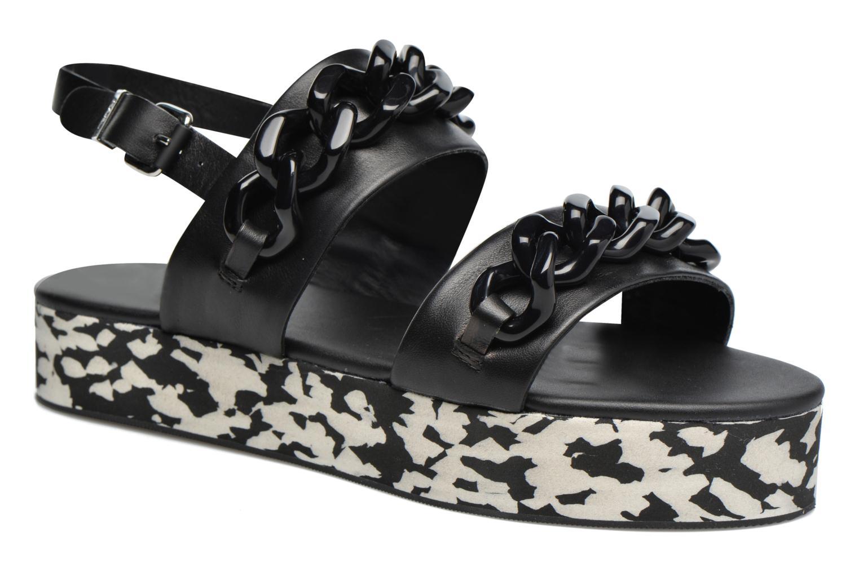Black LAGERFELD KARL Plexi Platform Sandal qFvIwZv