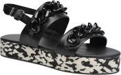 Sandalen Dames Plexi Platform Sandal