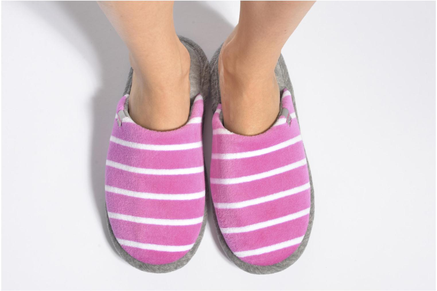 Slippers Dim D Ingrid Pink view from underneath / model view