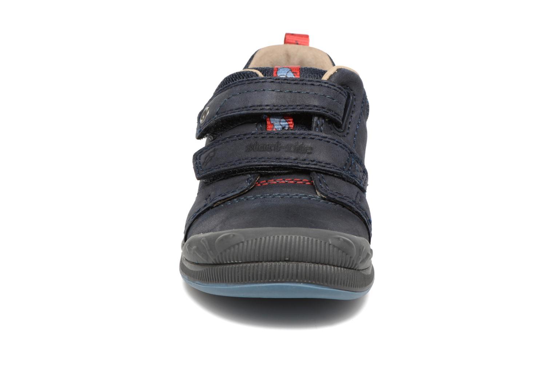 Chaussures à scratch Start Rite Beetlebug Bleu vue portées chaussures