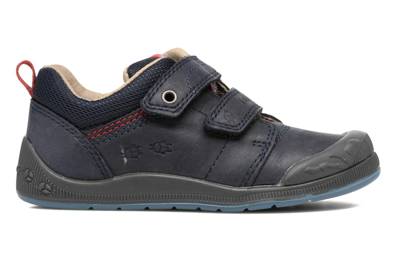 Chaussures à scratch Start Rite Beetlebug Bleu vue derrière