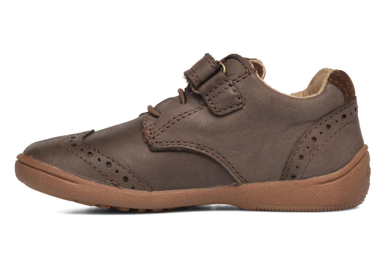 Chaussures à scratch Start Rite SR Super Soft Hugo Marron vue face