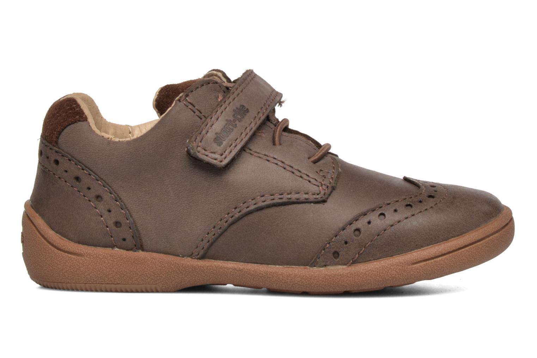 Chaussures à scratch Start Rite SR Super Soft Hugo Marron vue derrière
