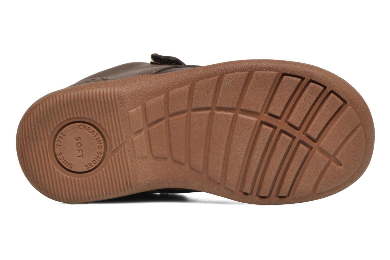 Chaussures à scratch Start Rite SR Super Soft Hugo Marron vue haut