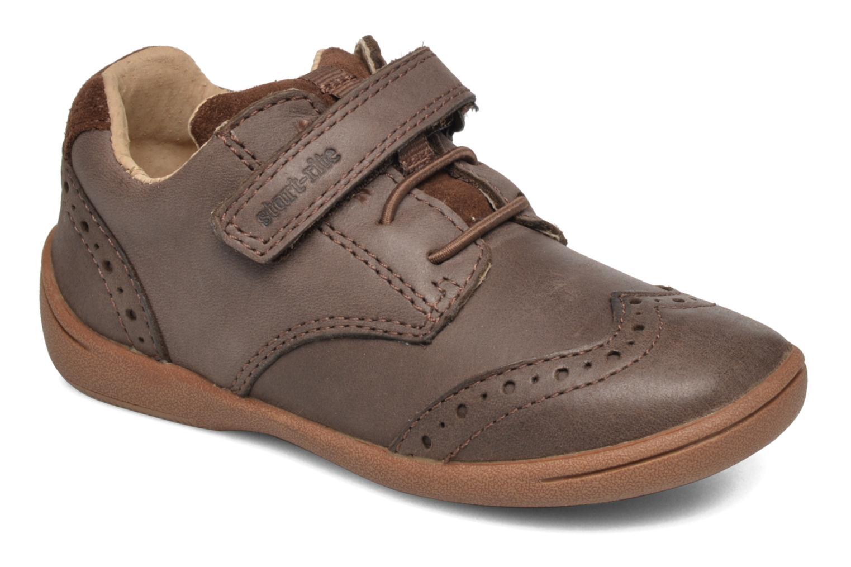 Chaussures à scratch Start Rite SR Super Soft Hugo Marron vue détail/paire