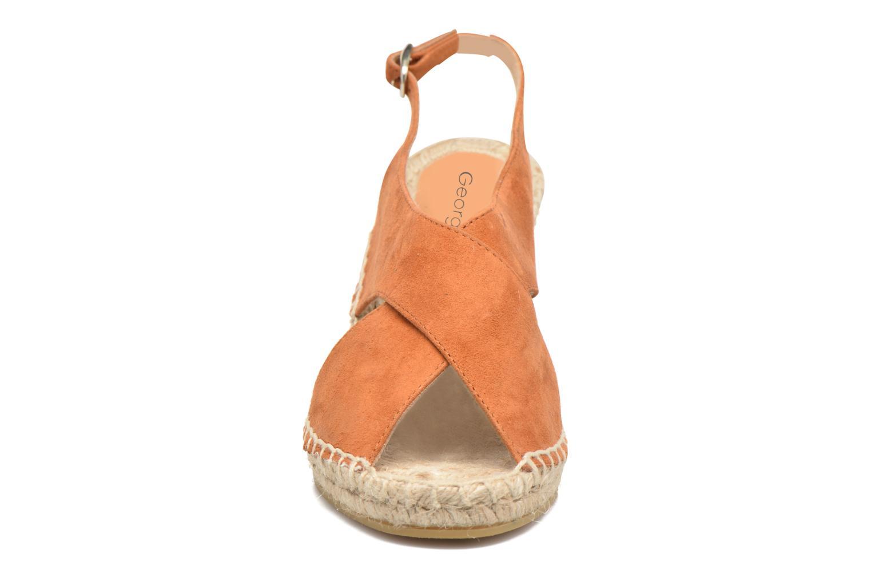 Espadrilles Georgia Rose Dacroi Marron vue portées chaussures