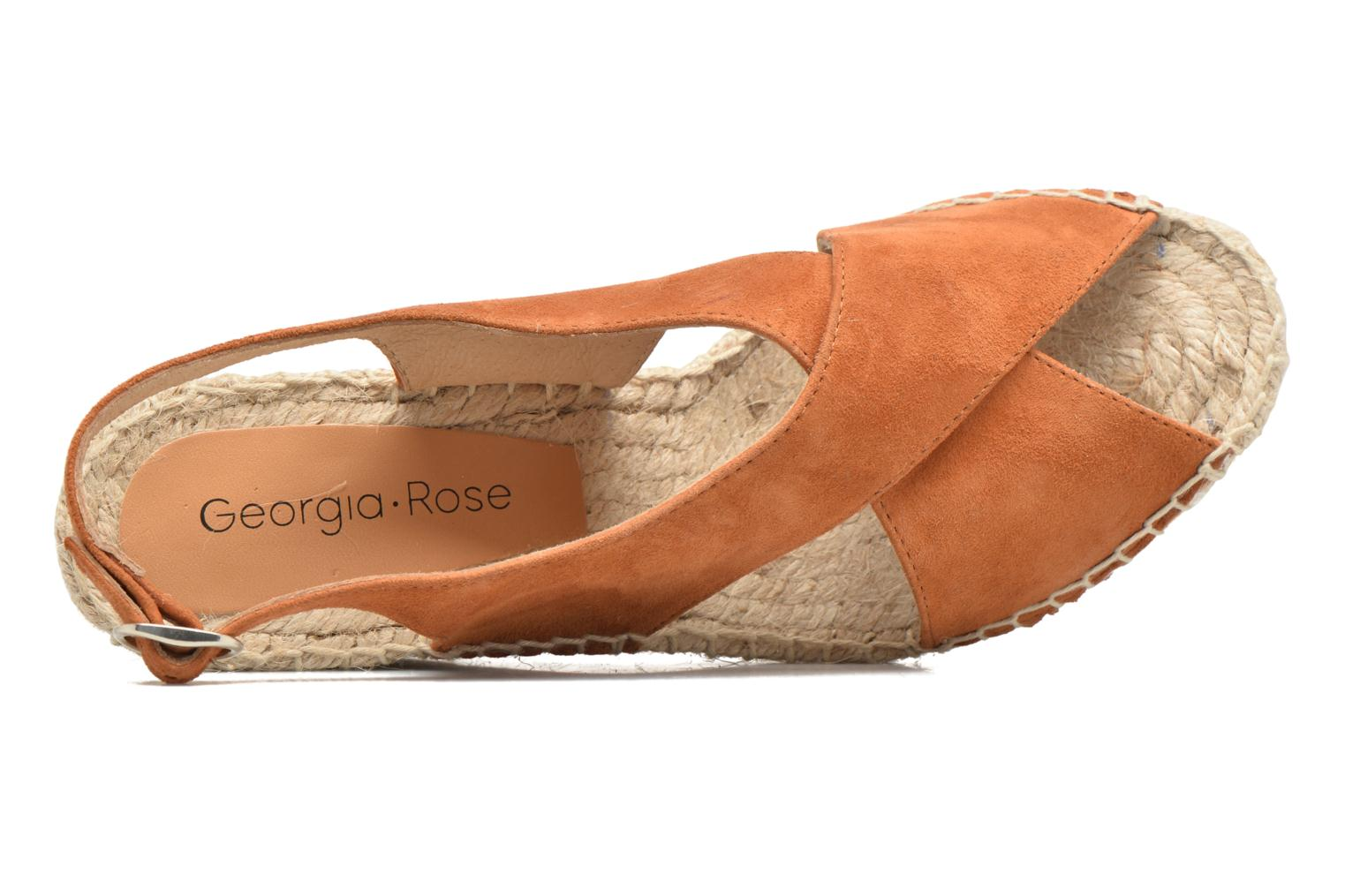 Espadrilles Georgia Rose Dacroi Brown view from the left