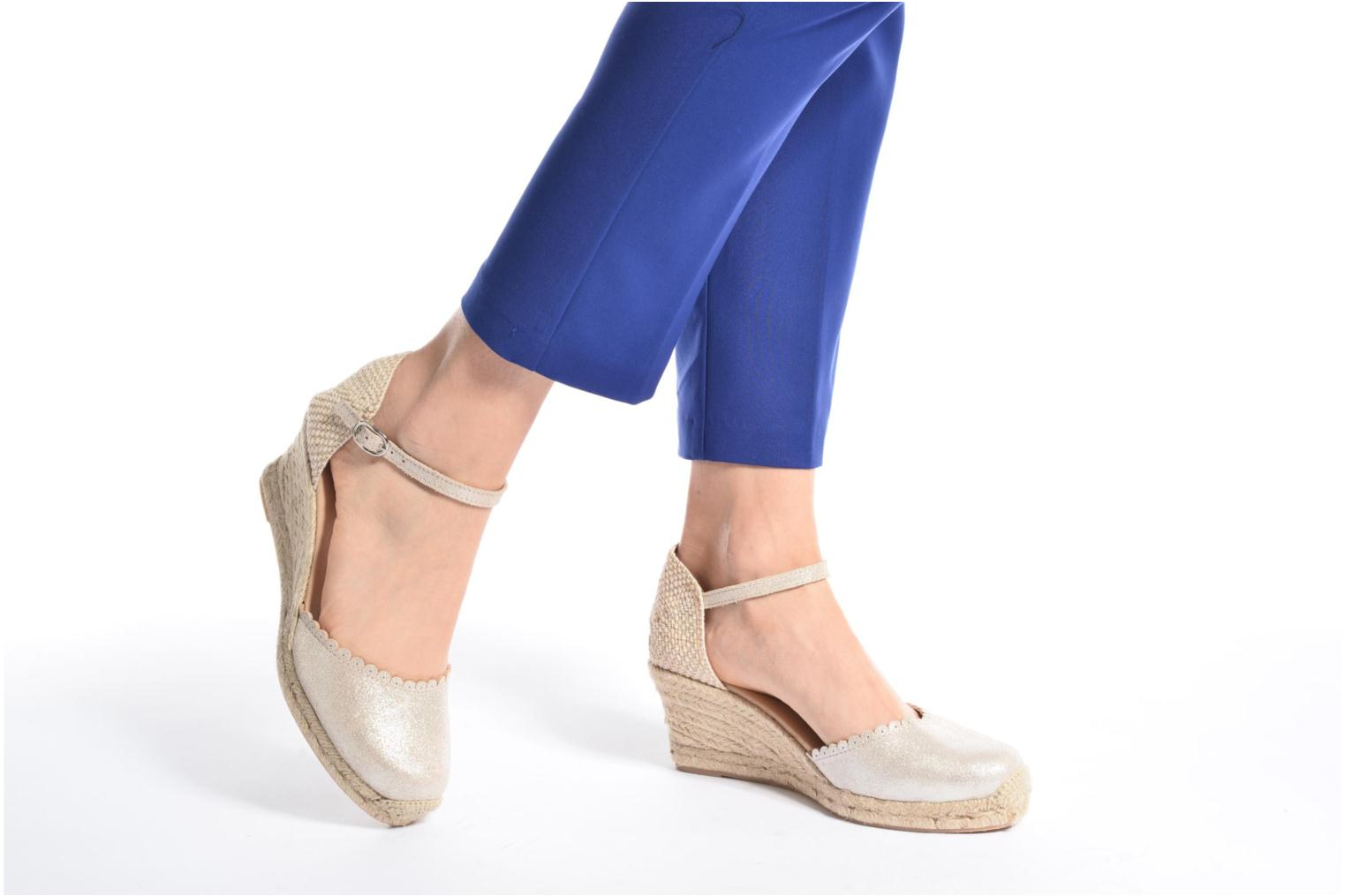 Espadrilles Georgia Rose Dasouplette Blue view from underneath / model view