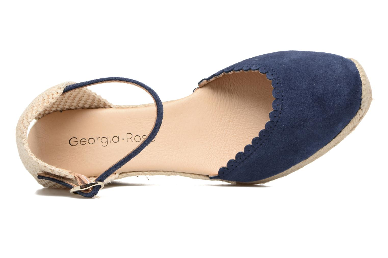 Alpargatas Georgia Rose Dasouplette Azul vista lateral izquierda