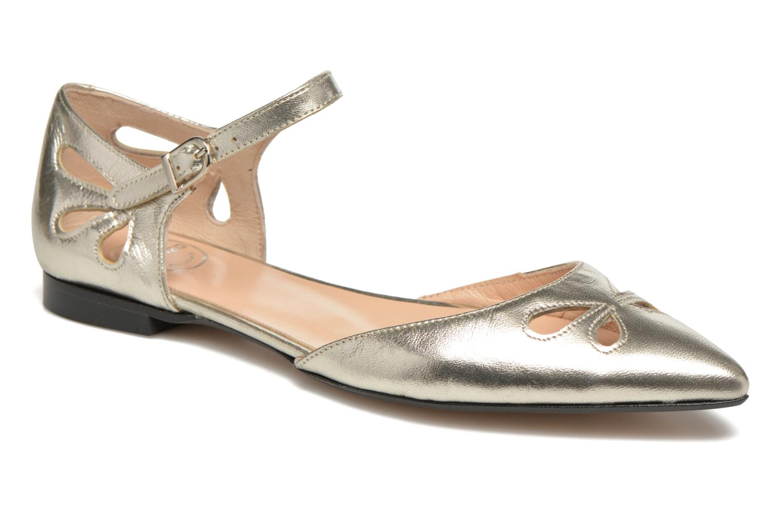 Ballet pumps Made by SARENZA Vegas Lipstick #2 Silver view from the right