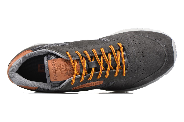 Baskets Reebok Cl Leather Ol Gris vue gauche