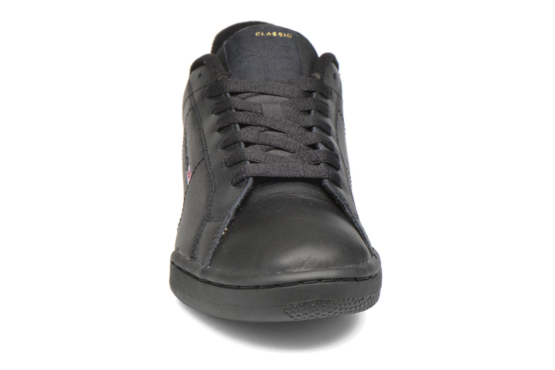 Baskets Reebok Npc II W Noir vue portées chaussures