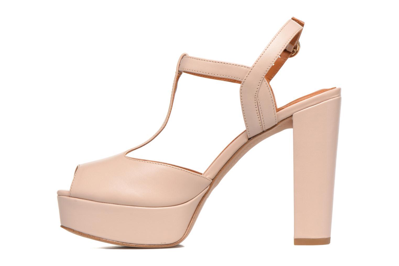 Sandales et nu-pieds What For Dahlia Beige vue face