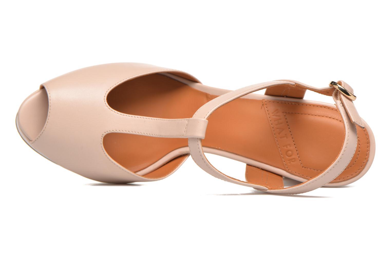 Sandales et nu-pieds What For Dahlia Beige vue gauche