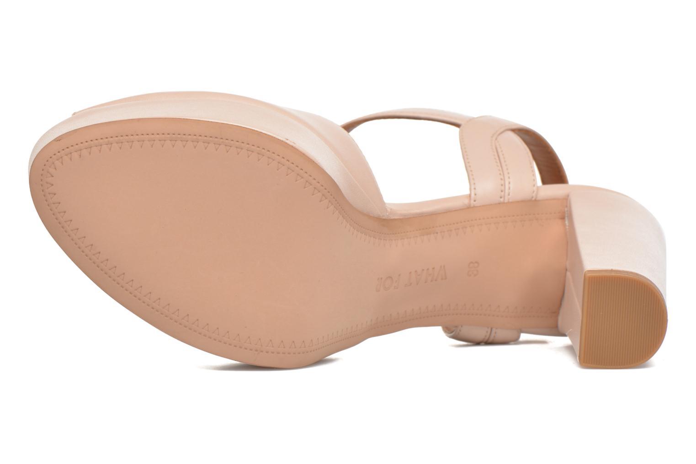 Sandales et nu-pieds What For Dahlia Beige vue haut