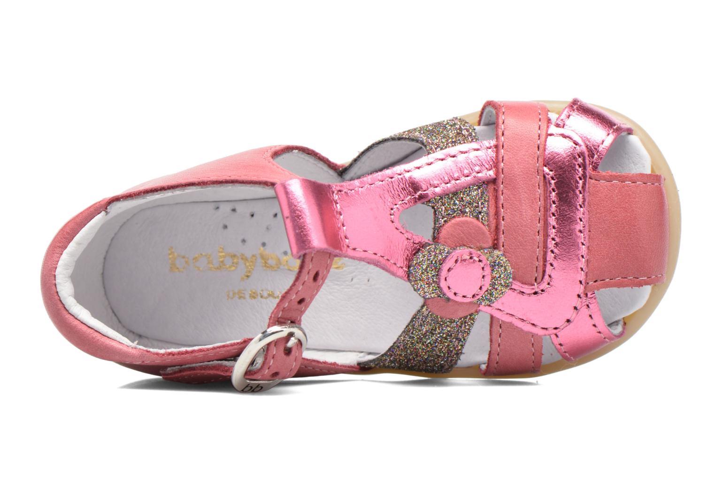Sandales et nu-pieds Babybotte Glitter Rose vue gauche