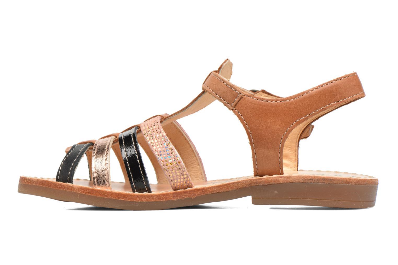 Sandales et nu-pieds Babybotte Ylona3 Marron vue face