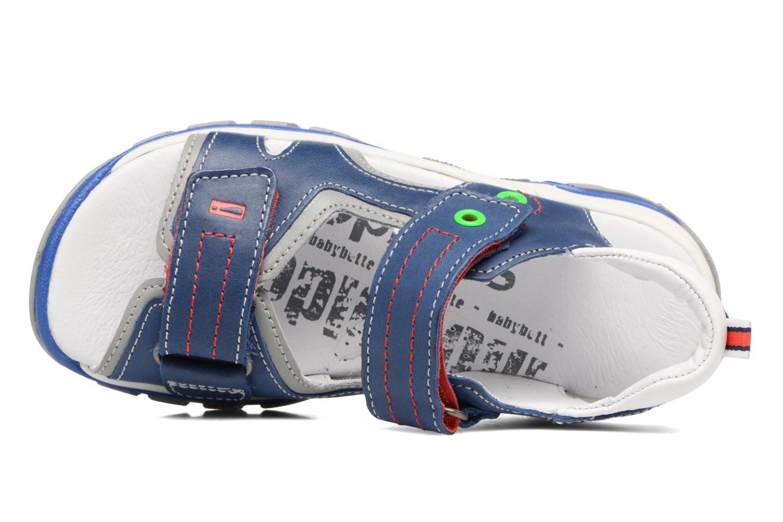 Sandales et nu-pieds Babybotte Karbu Bleu vue gauche