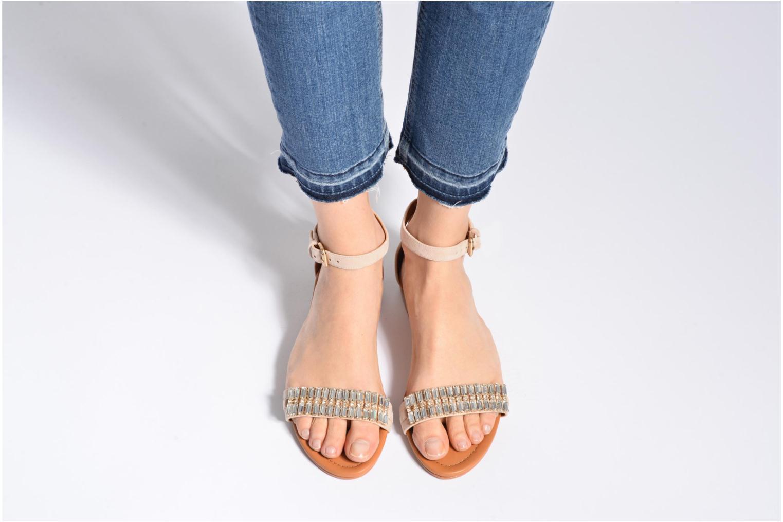 Sandales et nu-pieds What For Venus Beige vue bas / vue portée sac