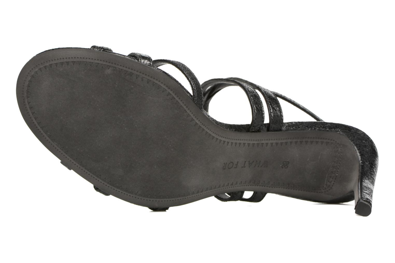 Sandales et nu-pieds What For Meteor Noir vue haut