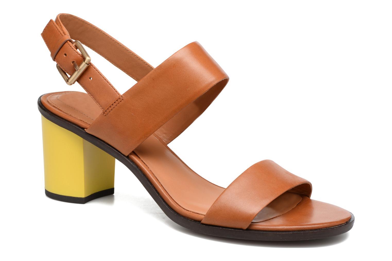 Sandales et nu-pieds What For Moon Marron vue détail/paire